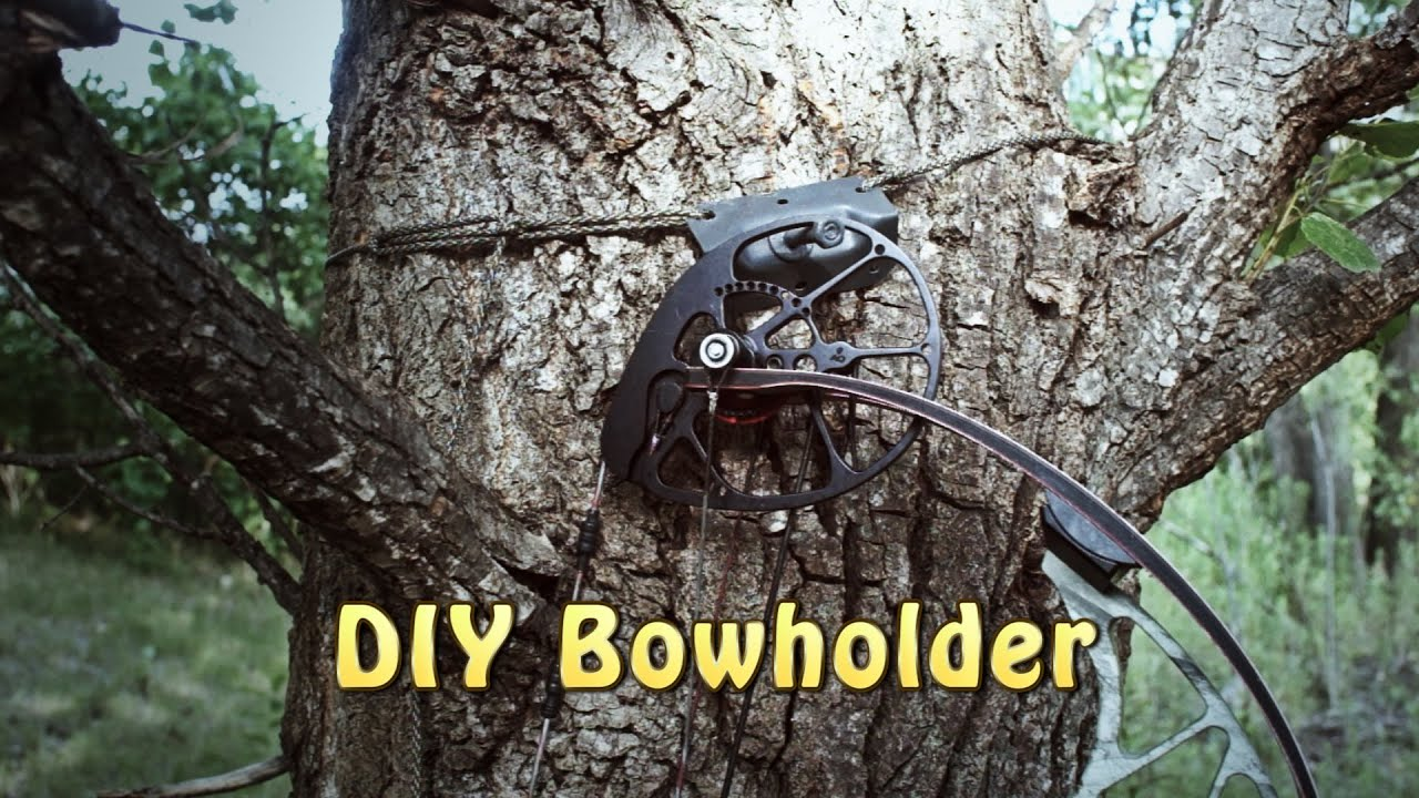 DIY Bow Holder, Utility Hook - Light and Strong!! - YouTube