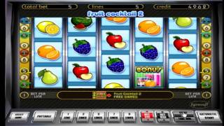 видео Вторая часть игрового автомата Фруктовый Коктейль
