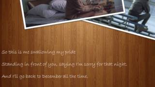 Taylor Swift - Back to December (Official Music Video - Slideshow Version) + Lyrics
