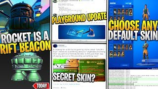 *NEW* Leaked Fortnite Rocket IS A RIFT BEACON *S11 NEW MAP* Any Default Skin, Playground UPDATE!
