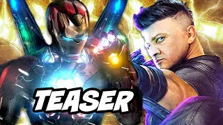 Avengers 4 New Armor Teaser Breakdown - Iron Man Thor Hawkeye