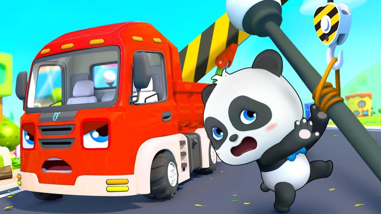 Biệt đội xe công trình đến giúp đỡ | Chiếc xe cẩu tốt bụng | Nhạc thiếu nhi vui nhộn | BabyBus