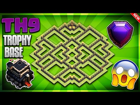'INSANE' TOWN HALL 9 (TH9) TROPHY/DEFENSIVE BASE DESIGN 2018- Clash Of Clans