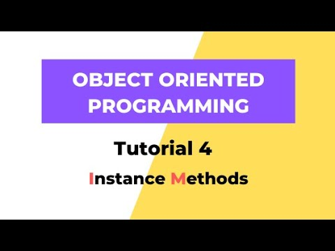 Instance Methods - Python OOPS Tutorial 4 thumbnail