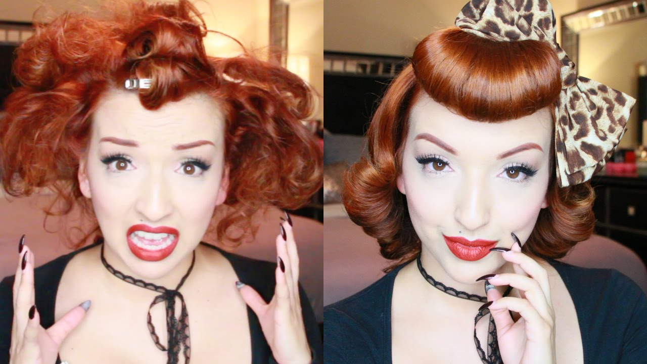 sweet retro girl pinup hair tutorial youtube