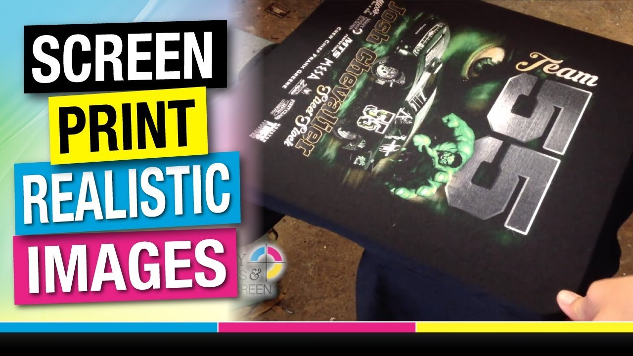 4f92385a How to Screen Print 6 Color Spot Procss or Simulated Process - YouTube