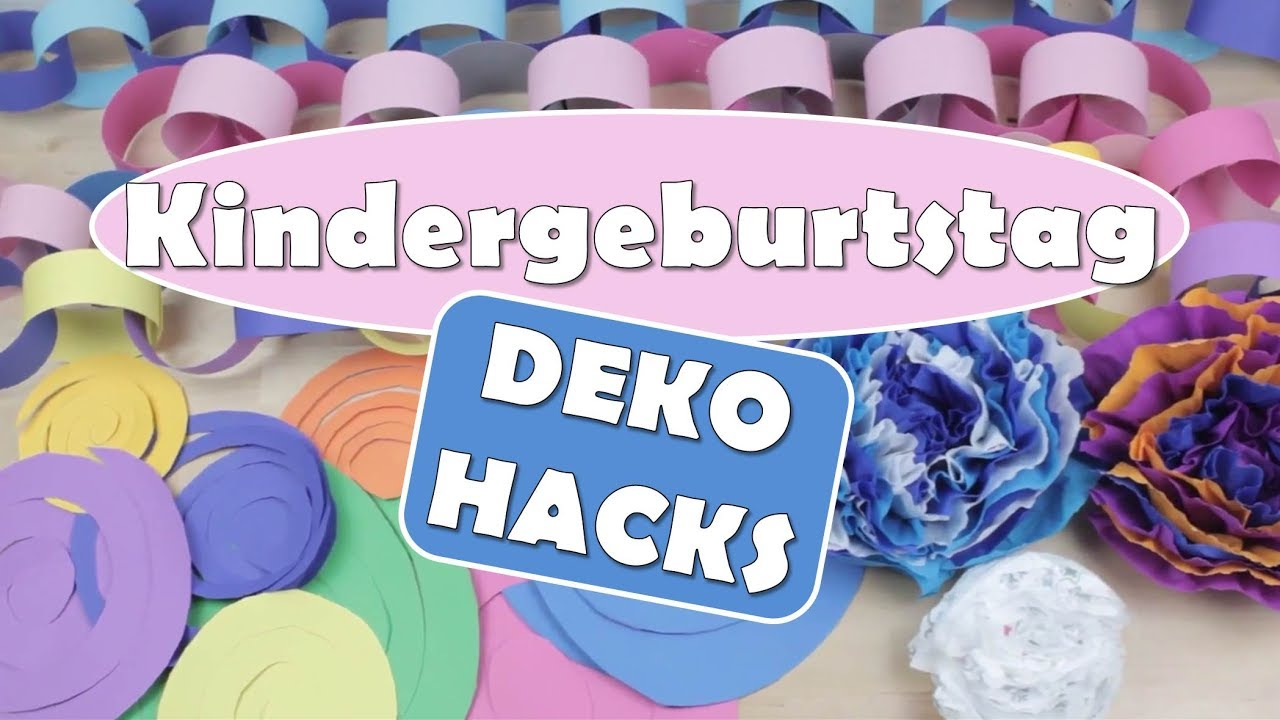 kindergeburtstag deko hacks diy dekoration geburtstag deko tipps youtube. Black Bedroom Furniture Sets. Home Design Ideas