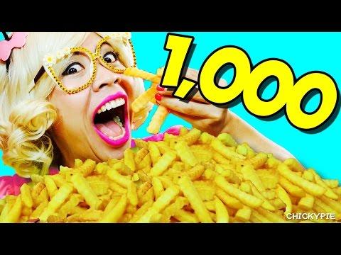 กินจุ กินโชว์ | กิน เฟรนฟราย 1000 ชิ้น 【คนกินจุ ชิคกี้พาย】