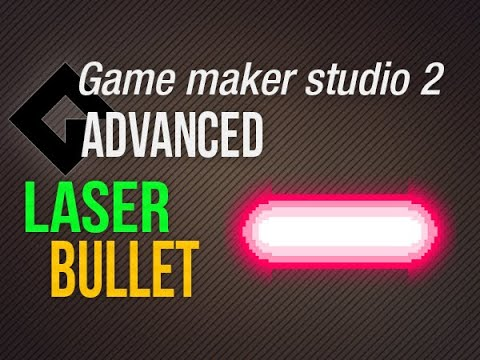 🔴 Laser bullets – Easy and complex [Game Maker Studio 2 | Advanced]