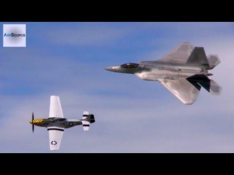 F-22 Raptor & P-51 Mustang Gravity-Defying Aerobatics.