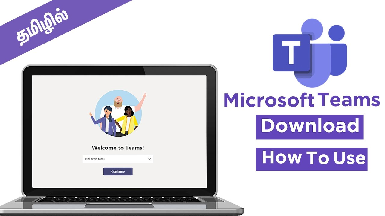 Microsoft Teams  How to Download, Install & Tutorial Tamil  video  conference, chat, video call