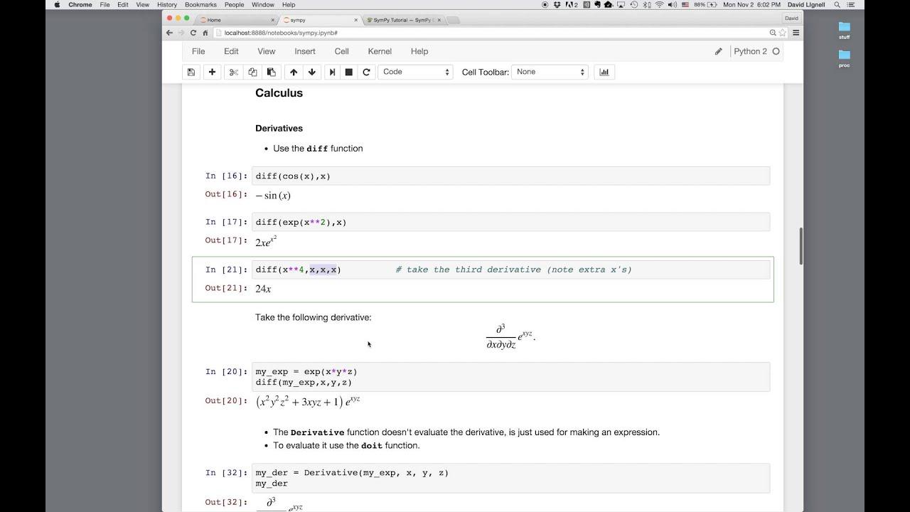 Symbolic Math In Python Youtube