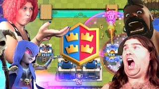 CLASH ROYALE!!! SUDDEN DEATH CHALLENGE 2V2!! CZK X ON THE TRUNK OF THE CLAN! ANARCHY IN LIVE!! SMART PIGS!!