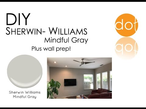 Sherwin Williams Mindful Gray Wall Paint And Wall Prep