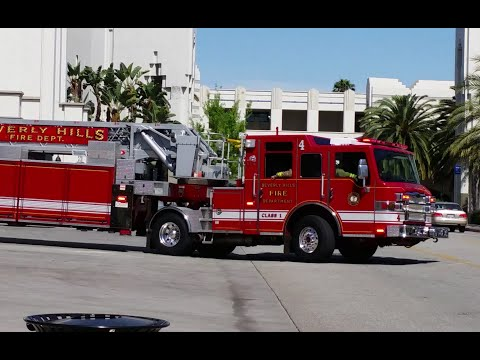 Beverly Hills Fire Major Response: Battalion 2, Engine 1, Rescue 2, Truck 4, USAR 5, and Engine 2