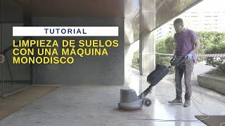 ESP No10 Limpieza de suelos con una máquina monodisco