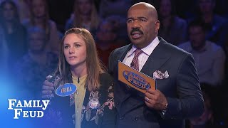 Steve Harvey is STUNNED! AMAZING COMEBACK on the Feud!!! | Family Feud