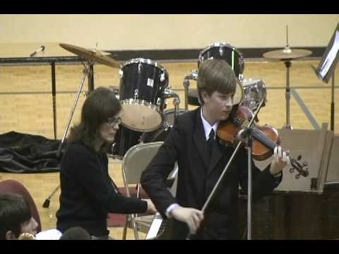 Andrew Johnson Violin Solo at Enumclaw Middle School