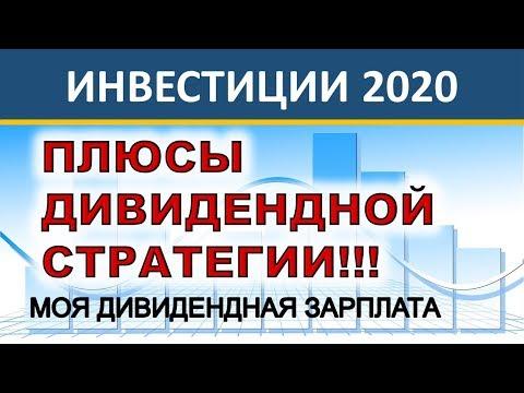 Плюсы дивидендных стратегий! Моя инвестиционная стратегия Дивидендная Зарплата. Инвестиции 2020.