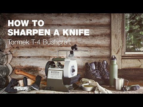 How to sharpen hunting knives/outdoor knives with Tormek T-4 Bushcraft