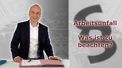 Arbeitsunfall - Was ist vom Arbeitnehmer zu beachten?   Fachanwalt Alexander Bredereck