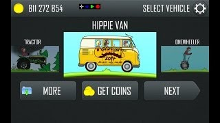 Repeat youtube video Hill Climb Racing Updated! (New Hippie Van and Rainbow Track!) 1.17.0