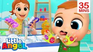 Wash Your Hands More! | Little Angel Kids Songs & Nursery Rhymes