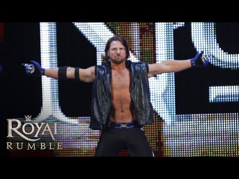 """WWE Network: AJ Styles makes his WWE debut in the Royal Rumble Match: Royal Rumble 2016"""