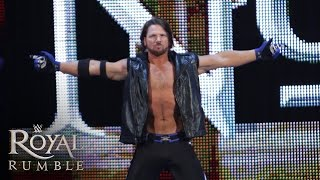 WWE Network: AJ Styles makes his WWE debut in the Royal Rumble Match: Royal Rumble 2016 thumbnail