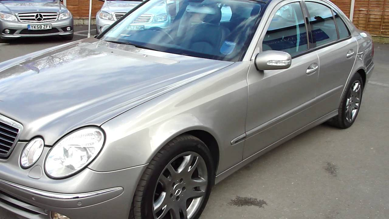 2004 mercedes e320 cdi avantgarde saloon auto diesel with panoramic roof silver mercland youtube. Black Bedroom Furniture Sets. Home Design Ideas