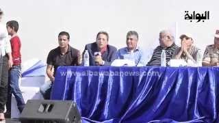 محمود سعد من موقع حفر القناة: الجيش مالوش فضل .. وكلنا واحد !