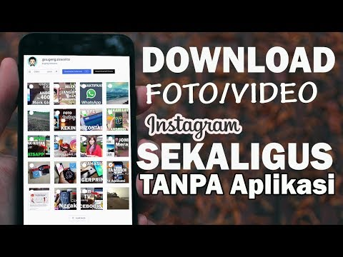 Cara Menyimpan FOTO/VIDEO Instagram Sekaligus - TANPA Aplikasi Tambahan