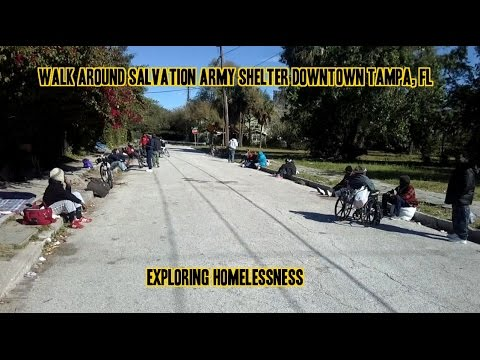 Walk around Salvation Army Shelter Downtown Tampa, Fl - Exploring Homelessness