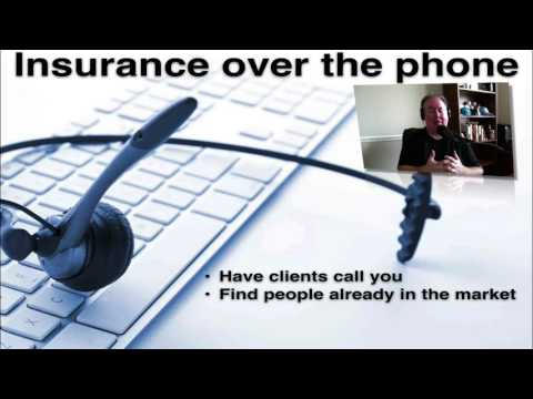 How to sell insurance over the phone