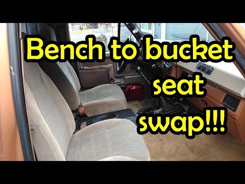Bench To Bucket Seat Swap Bullnose Ford F150 Project Truck Is It Going To Work Youtube