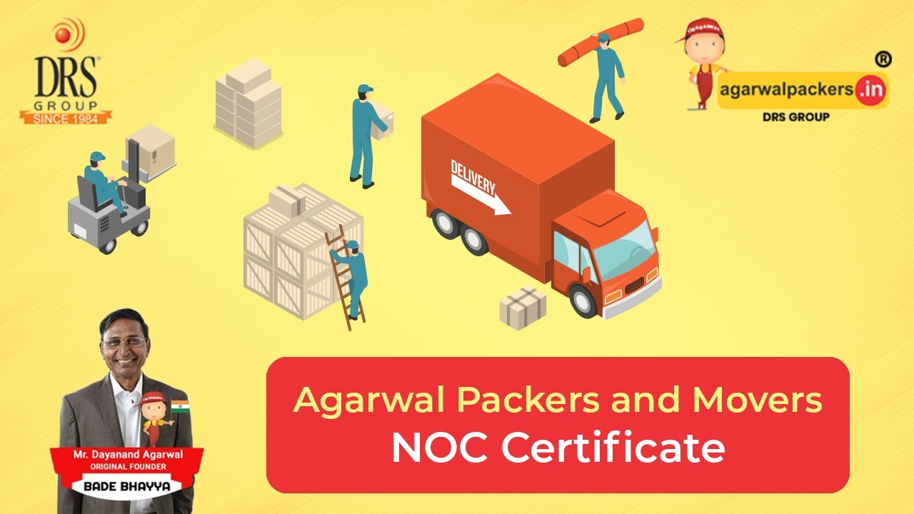 Agarwal Packers and Movers NOC Certificate YouTube – Noc Certificate