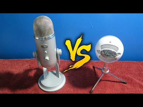 WHICH MIC IS RIGHT FOR YOU: BLUE SNOWBALL iCE vs BLUE YETI! (COMPARISON) | PERFECT MICS FOR YOUTUBE