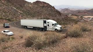 Old Mining Shaft, Gold Road Mine in Arizona and Semi-Truck Smu…