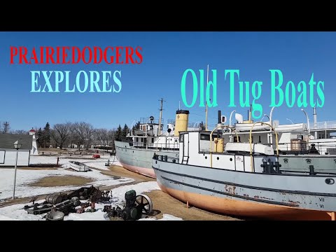 Exploring Old Tugboats and cargo boat engines retiring together at marine museum  Selkirk MB
