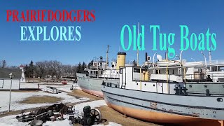 Exploring Old Tugboats Cargo Boats and Engine Parts