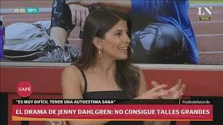 El drama de Jenny Dahlgren: no consigue talles grandes - Café de la tarde