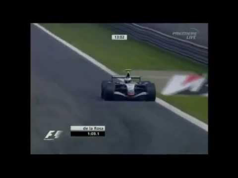 F1 Monza 2005 FP1 Pedro De La Rosa 1:20:201 Mclaren Mercedes MP4-20