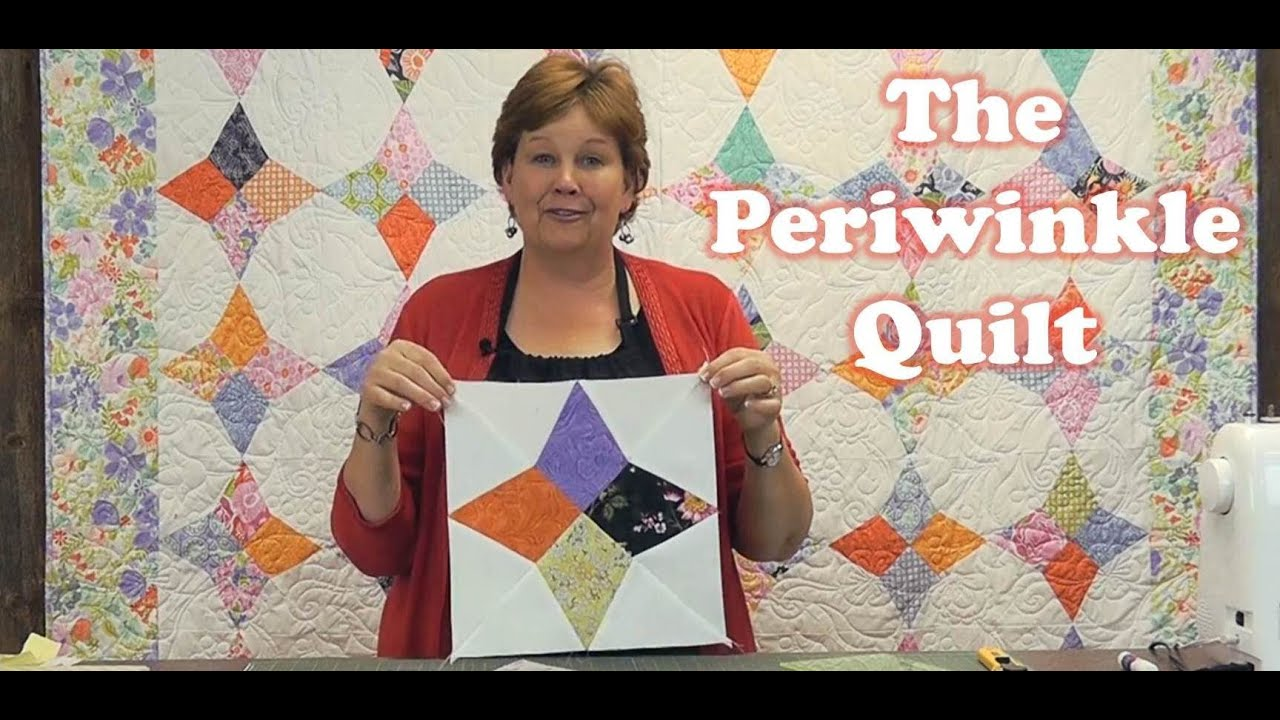 make a periwinkle quilt with the wacky web template youtube