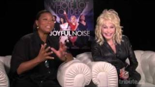 Queen Latifah & Dolly Parton - Joyful Noise Interview with Tribute