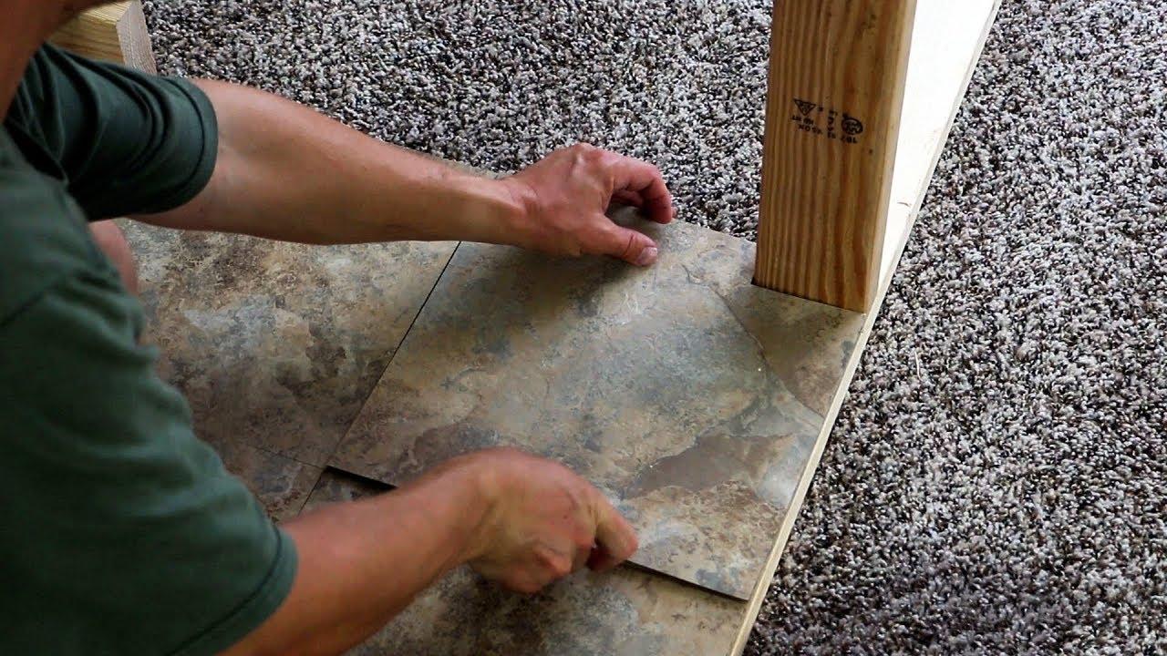 trafficmaster vinyl tile flooring review peel and stick flooring