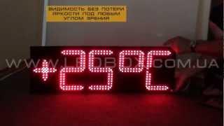 Электронные часы с датой и температурой. Обзор