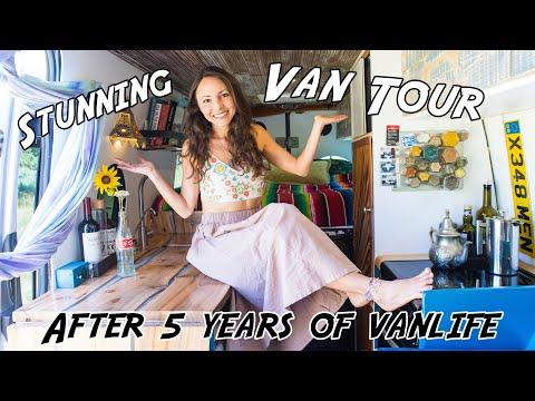 VAN TOUR 2019 | after 5 years + 5 TINY HOMES | Sprinter Van Conversion