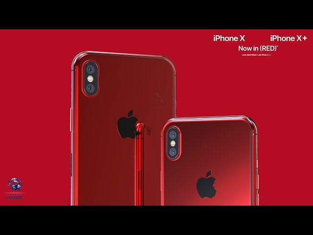 Concept Imagines Product Red Iphone X Iphone X Plus Video 9to5mac