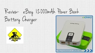 Review: eBay 12000mAh Power Bank Battery Charger