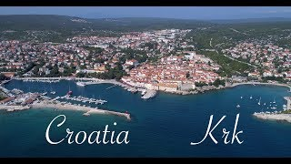 Croatia Krk - beautiful drone footage (4K)